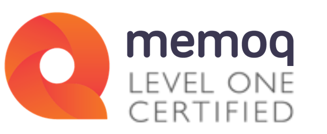 MemoQ Level 1 Certified.
